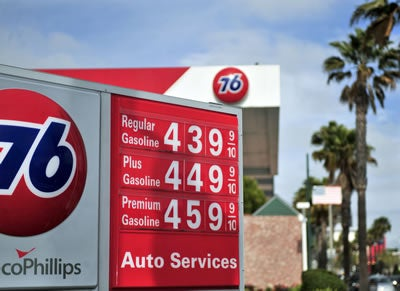 Gas prices in Santa Monica, CA