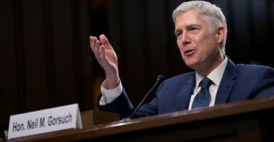 "In his book on physician-assisted suicide, Judge Neil Gorsuch wrote, ""All human beings are intrinsically valuable.""  (Photo: Shawn Thew/EPA/Newscom)"