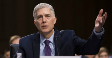 During his second day before the Senate Judiciary Committee, Neil Gorsuch addresses issues ranging from abortion and religious freedom to President Donald Trump's executive order restricting travel from six terrorism-prone nations. (Photo: Kevin Dietsch/UPI/Newscom)