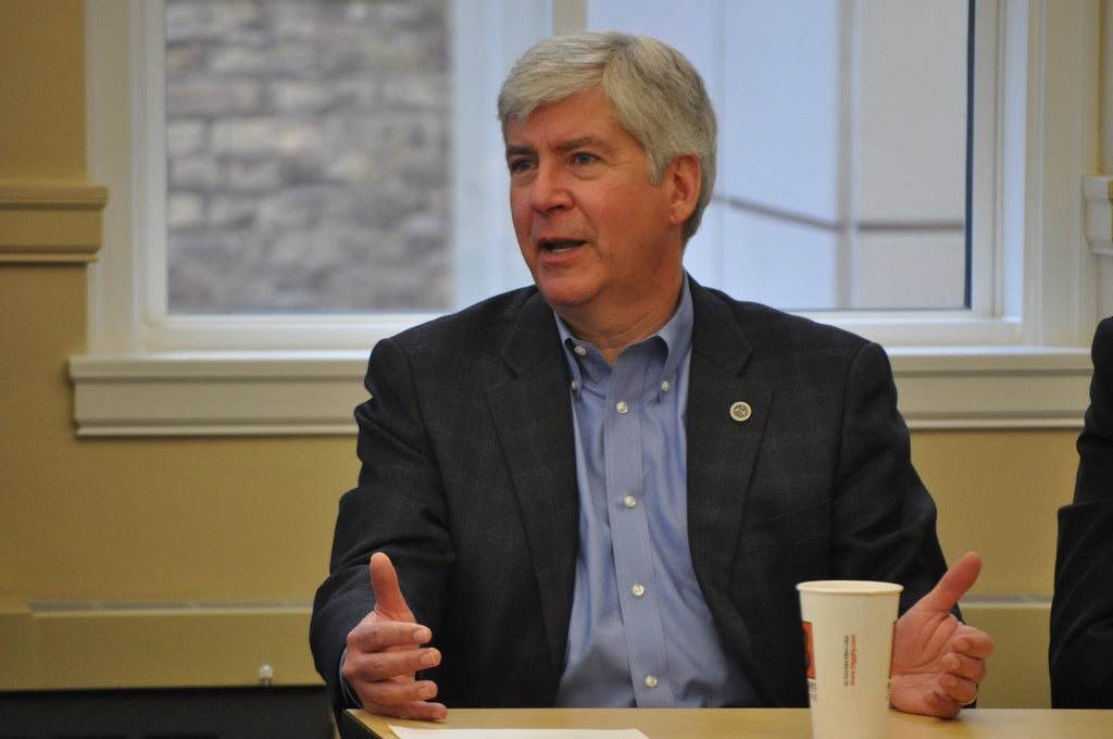 Governor Snyder Talks with Michigan Mayors at Mayors' Summit at Michigan Municipal League