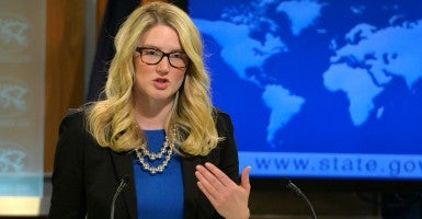 State Department spokeswoman Marie Harf. (Bao Dandan Xinhua News Agency/Newscom)