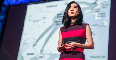 Escaped North Korean human rights refugee Hyeonseo Lee (Photo: TED Conference/Flickr)