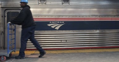 An Amtrak train pulls into Newark Penn Station in Newark, N.J.. (Photo: Spencer Platt/Getty Images)