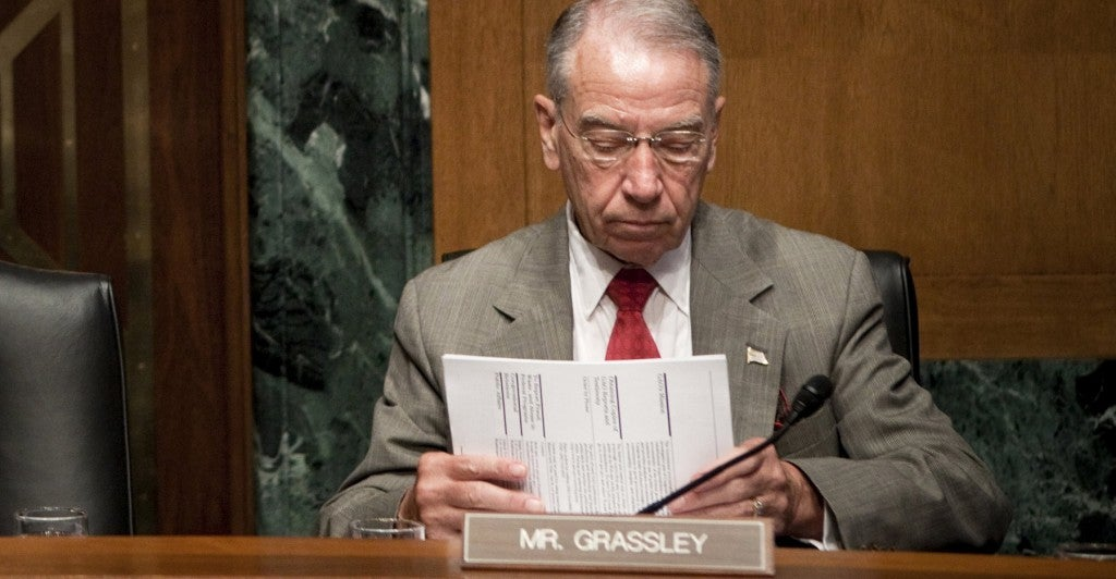 Sen. Chuck Grassley, R-Iowa (Photo: Brendan Smialowski/Getty Images)