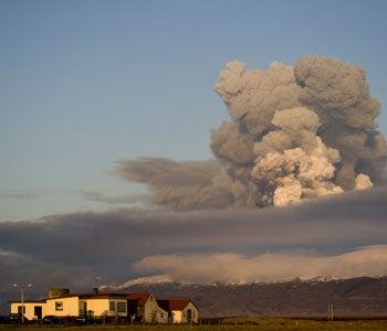 Volcanic Eruption in Eyjafjallajokull, Iceland