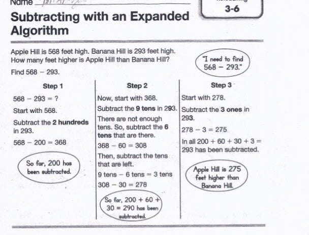 Third grade Common Core homework
