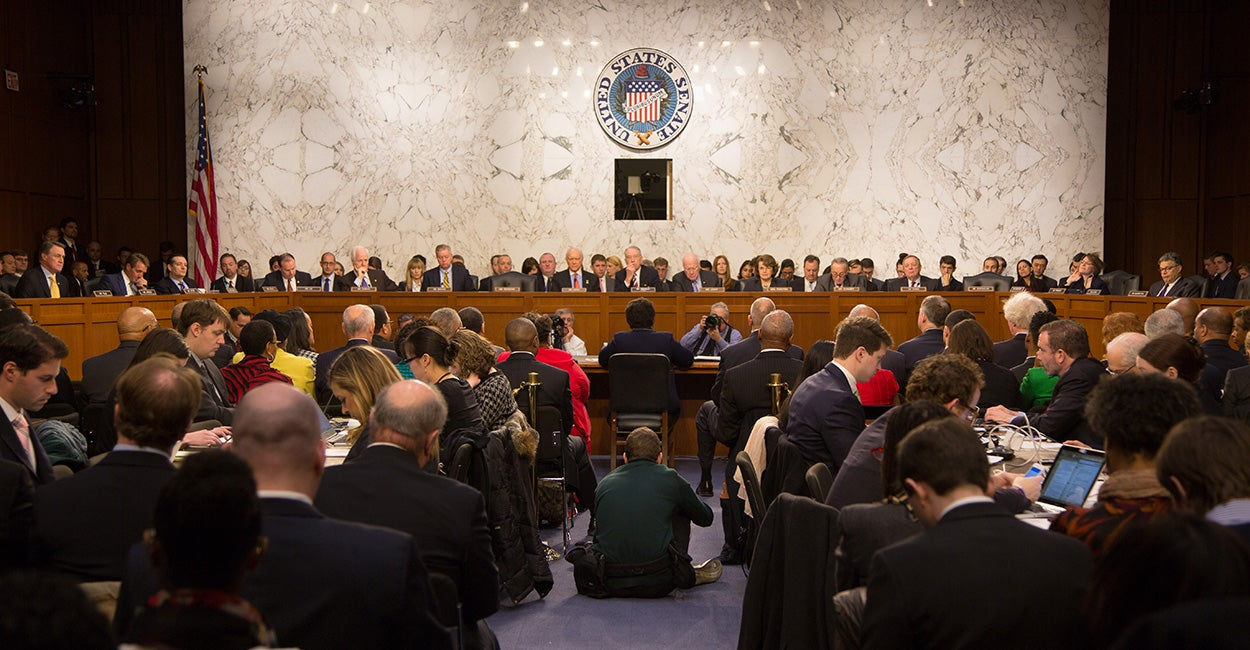 The U.S. Senate Committee on the Judiciary, Jan. 28, 2015. (Photo: Jeff Malet/Newscom)