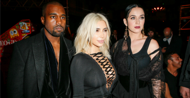 Affluent celebrities Kayne West, Kim Kardashian and Katy Perry.  (Photo: PIXELFORMULA/SIPA/Newscom)