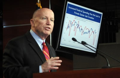 Rep. Kevin Brady (R-TX), who introduced the Freedom to Invest Act of 2011 (H.R. 1834, 112th Congress)