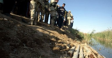 File photo: Iraqi weapons found hidden in water have chemical capabilities. (Photo: Newscom)