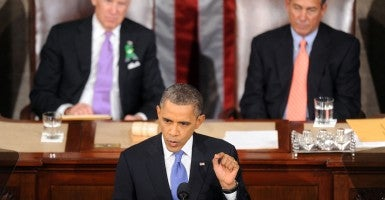 President Barack Obama gives his State of the Union address during a joint session of Congress on Capitol Hill in Feb. 2013. (Photo: Olivier Douliery/Abaca Press/MCT)