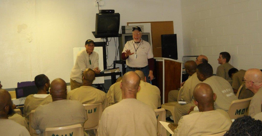 Ken Leary leads a class in a Nashville prison. (Photo: Curt Campbell/Men of Valor)