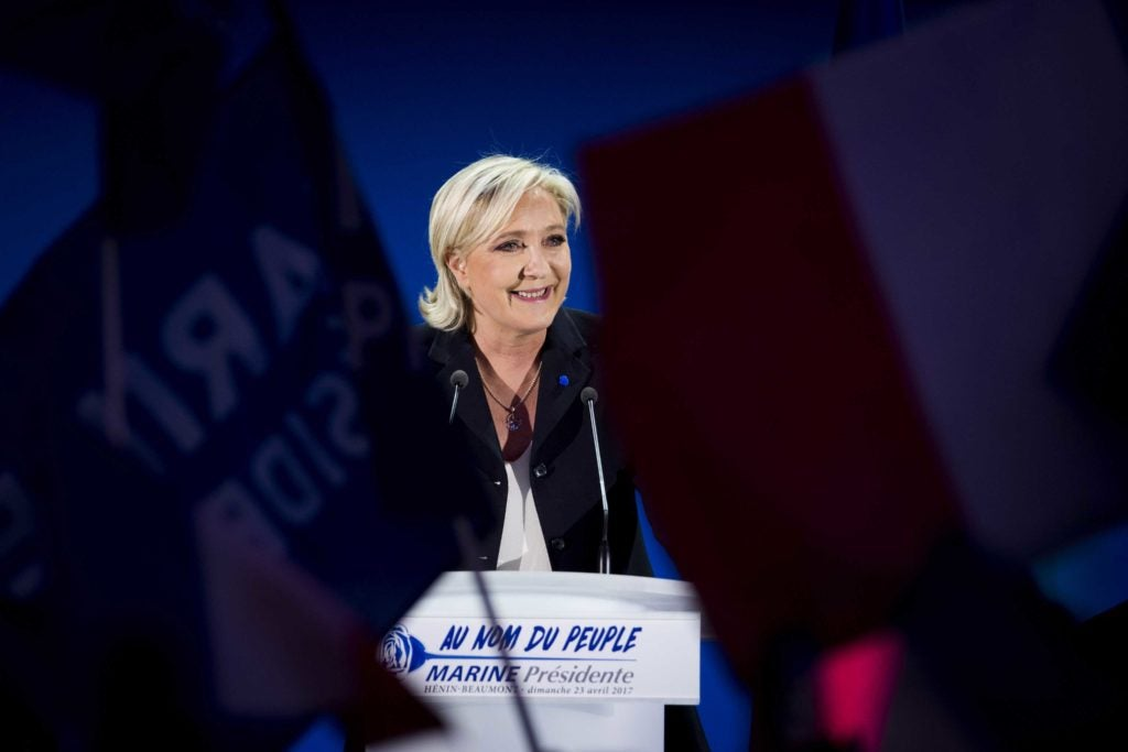 French presidential candidate Marine Le Pen will participate in the May 7 electoral runoff. (Photo: Panoramic/ZUMA Press/Newscom)