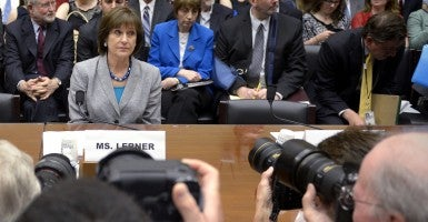 Lois Lerner waits for the opening gavel prior to the House Oversight and Reform Committee's hearing on 'The IRS: Targeting Americans for Their Political Beliefs' on Capitol Hill in May 2013. (Photo: Shawn Thew/Newscom)