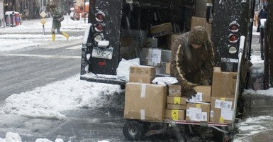 deliveries in the snow