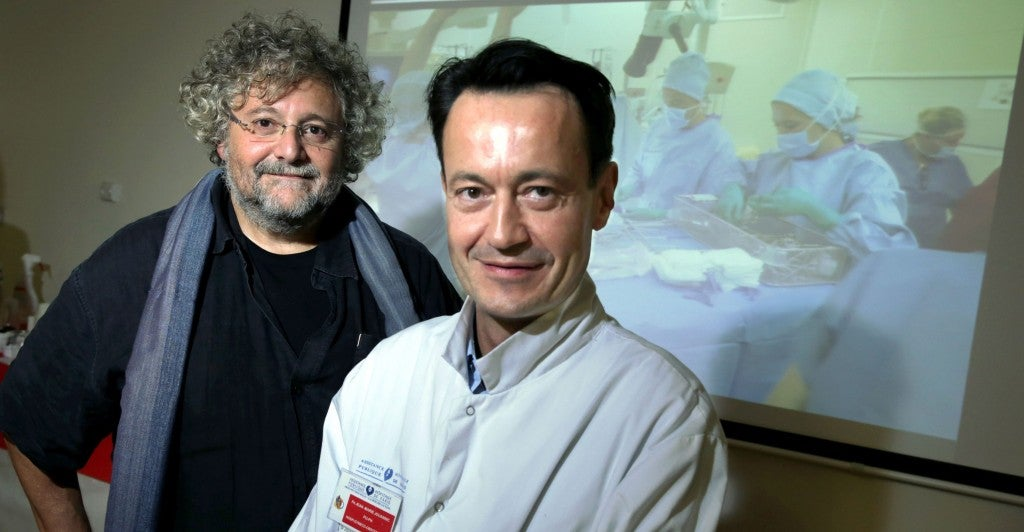 Jean-Marie Jouannic and Michel Zerah. Their groundbreaking fetal surgery was performed at the Armand Trousseau Hospital in Paris. (Photo: Newscom)
