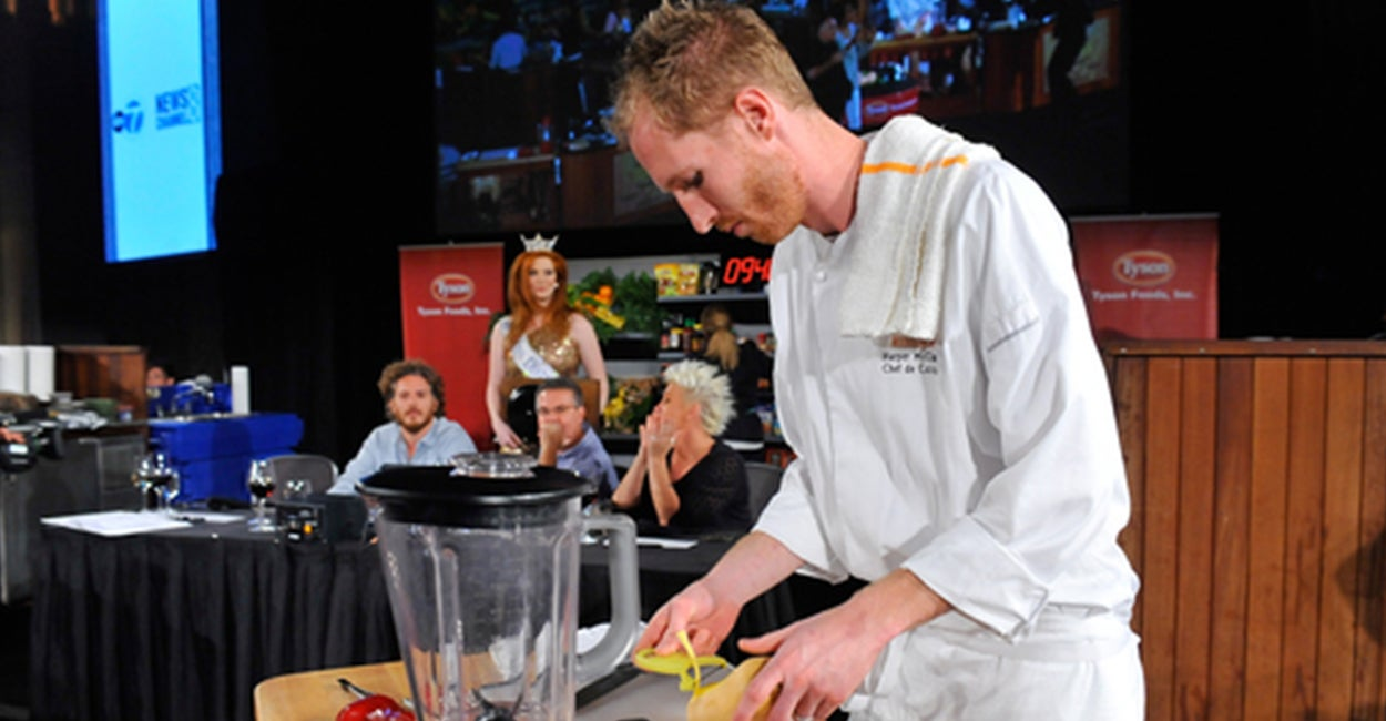 Chef Harper McClure Competes In A Live Cooking Competition At The Capital  Food Fight. (