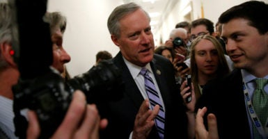 Chairman of the House Freedom Caucus, Mark Meadows, R-N.C., says conservatives in Congress will continue working to repeal and replace Obamacare. (Photo: Reuters/Jonathan Ernst/Newscom)