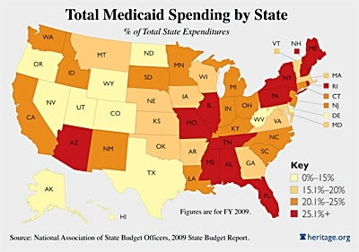 medicaid spending map