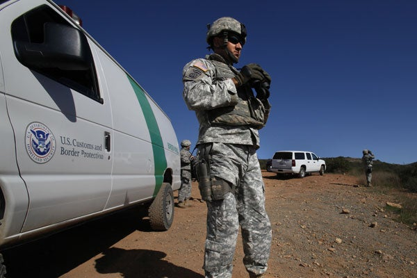 National Guard at the U.S. border