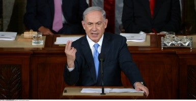 Prime Minister Netanyahu addressed Congress earlier this month. (Chine Nouvelle/ SIPA/Newscom)