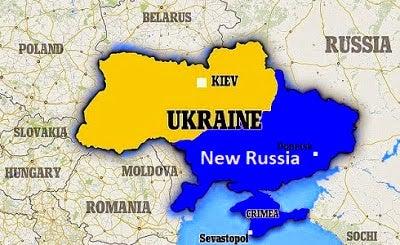 Mapa ruso de Ucrania