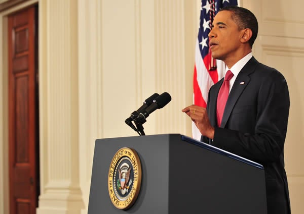 President Obama delivers prime time address on the debt ceiling on July 25, 2011