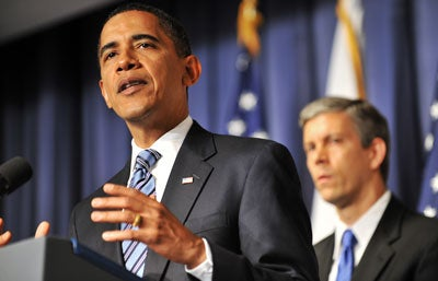 President Barack Obama and Secretary of Education Arne Duncan
