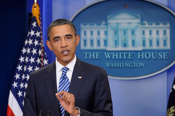 President Barack Obama in White House press conference on July 5, 2011