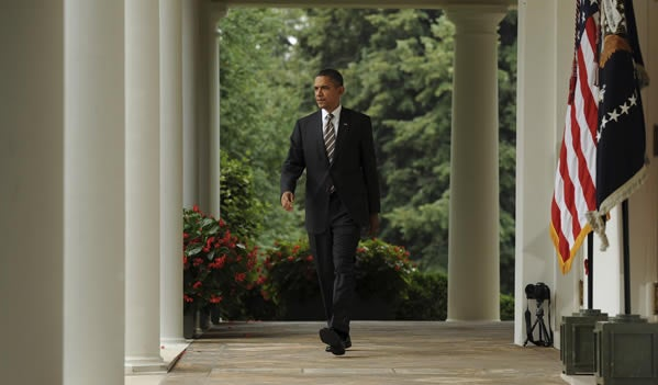 President Barack Obama at White House on July 8, 2011