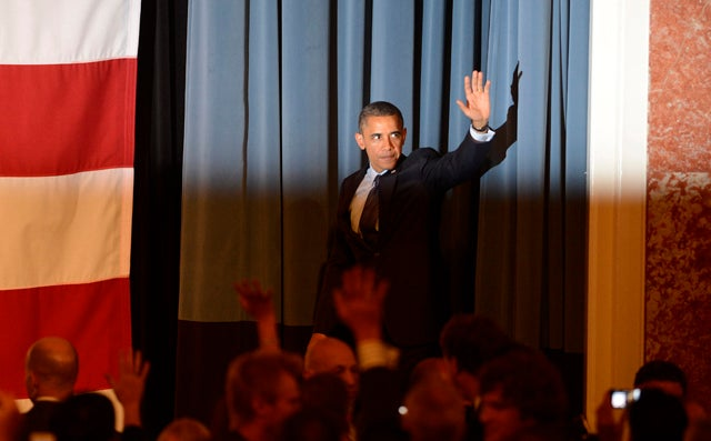 US President Barak Obama at fundraiser