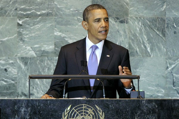 President Barack Obama Speaking at the United Nations