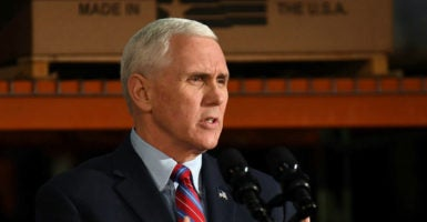 """Rep. Mark Walker, R-N.C., says the Republican Study Committee meeting with Vice President Mike Pence, pictured above, was """"hopeful."""" (Photo: Bryan Woolston/Reuters /Newscom)"""