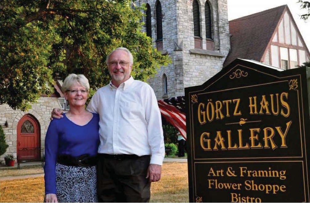 Betty and Richard Odgaard, owners of Görtz Haus Gallery in Grimes, Iowa. (Photo: Odgaards)