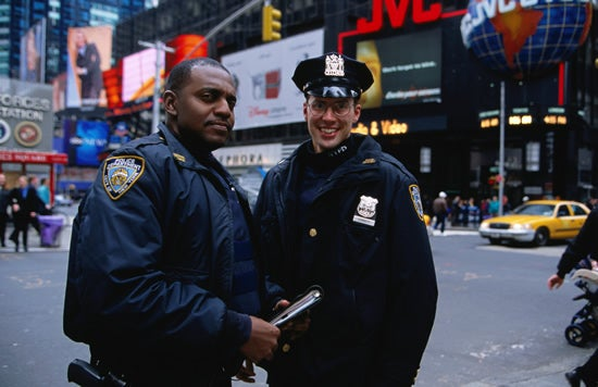 Police officers in Times Square, New York