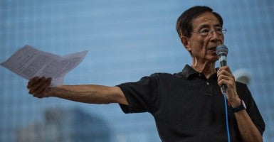 'We've been waiting so many years': Martin Lee, founder of Hong Kong's Democratic Party. (Photo: Todd Darling/Newscom)