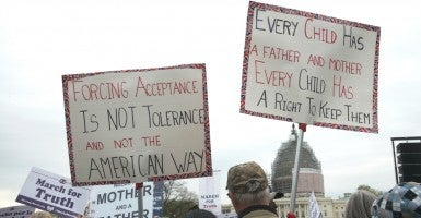 Traditional marriage advocates can learn from pro-lifers. (Photo: Patsy Lynch/Polaris/Newscom)