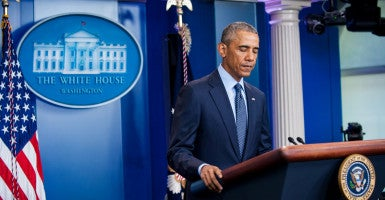 President Obama should not have pushed gun control in his statement after the shooting at an Orlando gay nightclub.(Photo: Polaris/Newscom)