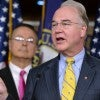 House Budget Chairman Tom Price, R-Ga., stands with fellow committee members as he introduces their fiscal year 2016 budget resolution. (Photo: Kevin Dietsch/UPI/Newscom)
