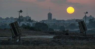 Iron Dome anti-missile shield systems are deployed near Ashdod, a southern Israeli city bordering the Gaza Strip . (Photo: Li Rui/Newscom)