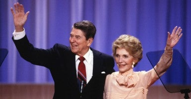 On July 17, 1980, thirty-five years ago today Ronald Reagan accepted the Republican presidential nomination (Photo: Arnie Sachs/ZUMA Press/Newscom)