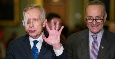 Sens. Harry Reid, D-Nev., and Chuck Schumer, D-N.Y. (Bill Clark/CQ Roll Call/Newscom)