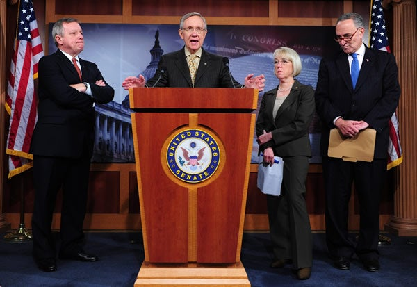 Senate Majority Leader Harry Reid (D-NV) announces that he has canceled the July 4 Senate recess. 6/30/2011