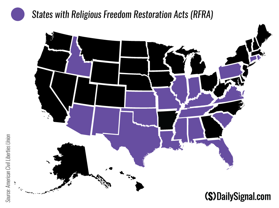 These 19 States Have Religious Freedom Laws Similar to
