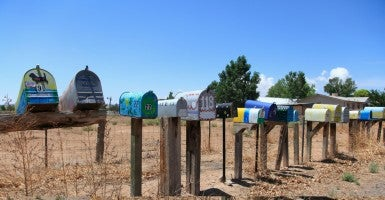 Mailboxes in New Mexico. (Photo: Wendy Connett/Robert Harding/Newscom)