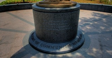 """We here are all too familiar with the stories of the more than 100 million victims of communism, the deadliest 'ism' of the 20th century,"" Victims of Communism Memorial Foundation Chairman Lee Edwards said. (Photo: Douglas Graham/Roll Call Photos/Newscom)"