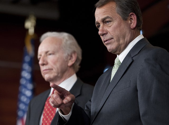 Speaker John Boehner and Sen. Joe Lieberman