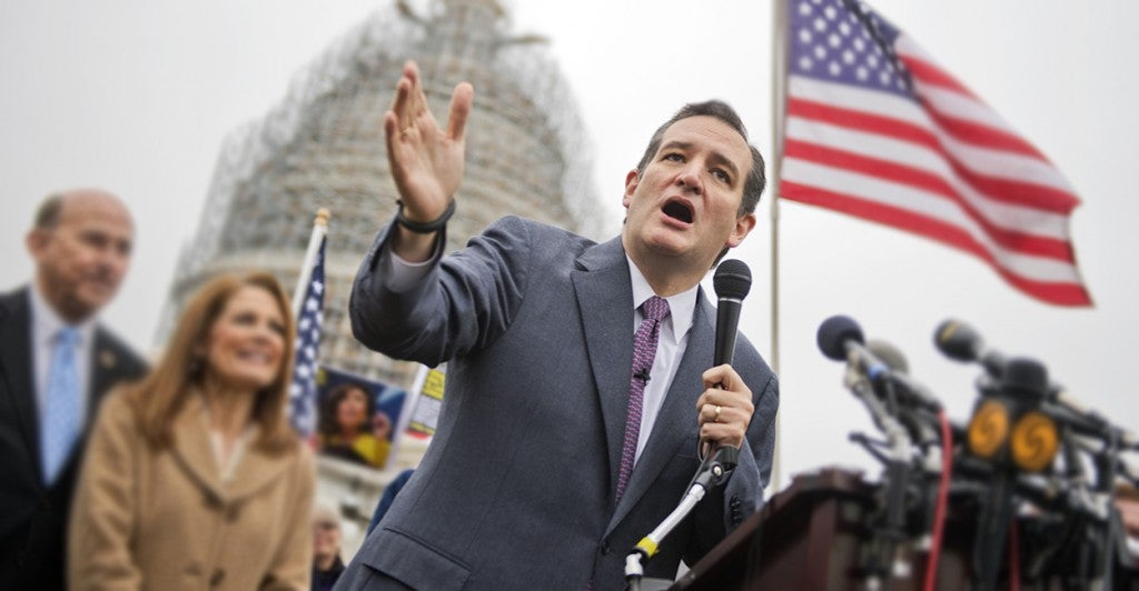 Sen. Ted Cruz, R-Texas, fires back at what he calls a government 'land grab.' (Photo: Tom Williams/CQ Roll Call/Newscom)
