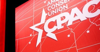 A view of the CPAC stage in National Harbor, Md. (Photo: Bill Clark/CQ Roll Call)