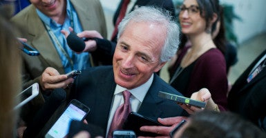 Sen. Bob Corker, R-Tenn., isn't alone in his view that organizations like Heritage, who represent millions of Americans, shouldn't be meddling in their business. (Photo: Tom Williams/CQ Roll Call/Newscom)